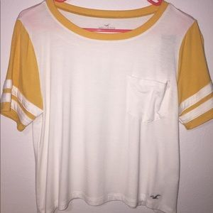 "yellow hollister ""easy tee"""